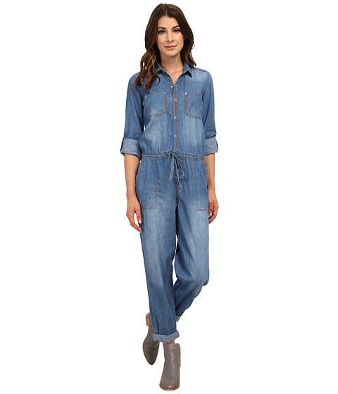 dollhouse - Lightweight Jumpsuit with Draw String (Medium Blue Wash) Women