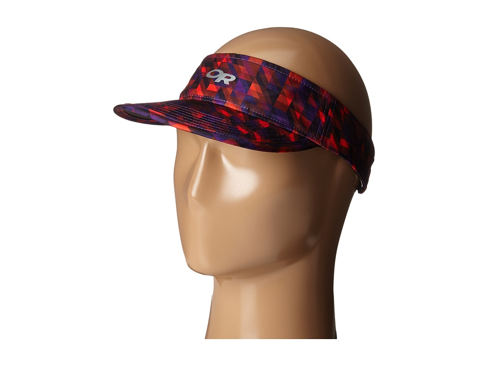 Outdoor Research - Fortuna Visor (Ultraviolet/Flame) Casual Visor