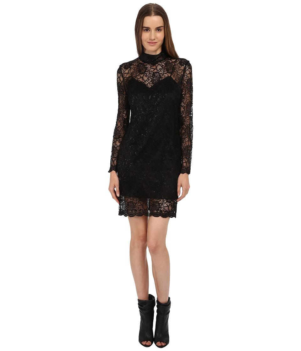 The Kooples Laminated Lace Dress (Black) Women