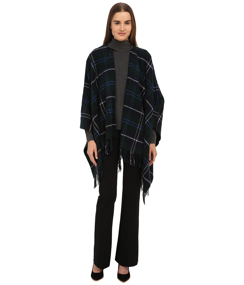 The Kooples - Virgin Wool Poncho (Navy) Scarves