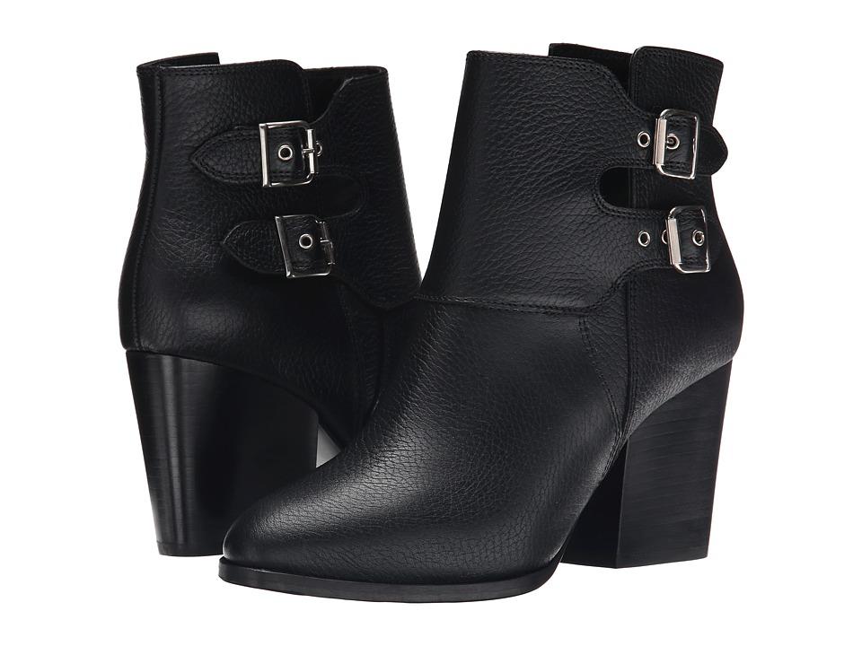 The Kooples - Grained Embossed Leather (Black) Women's Zip Boots