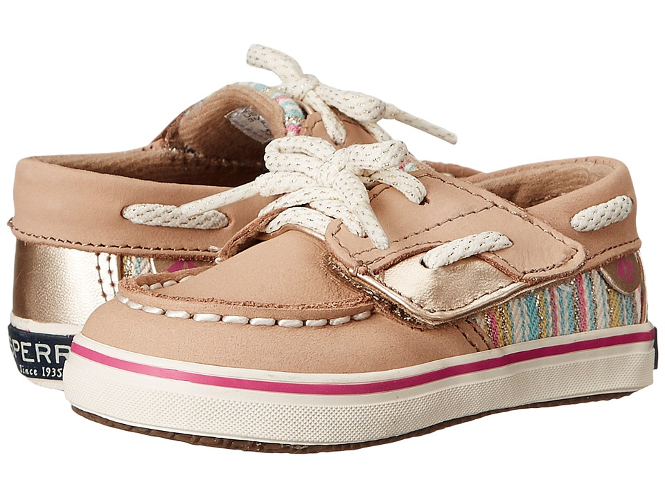 Sperry Top-Sider Kids - Bluefish Crib Jr (Infant/Toddler) (Silver Cloud/Serape) Girl