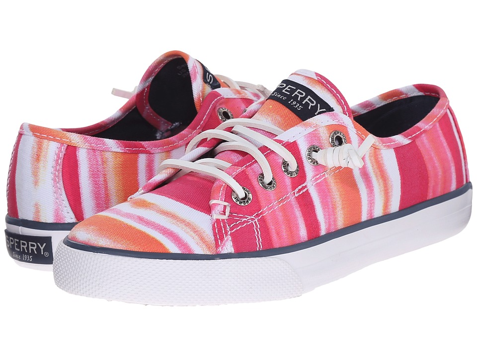 Sperry Kids - Seacoast (Little Kid/Big Kid) (Pink Watercolor) Girls Shoes