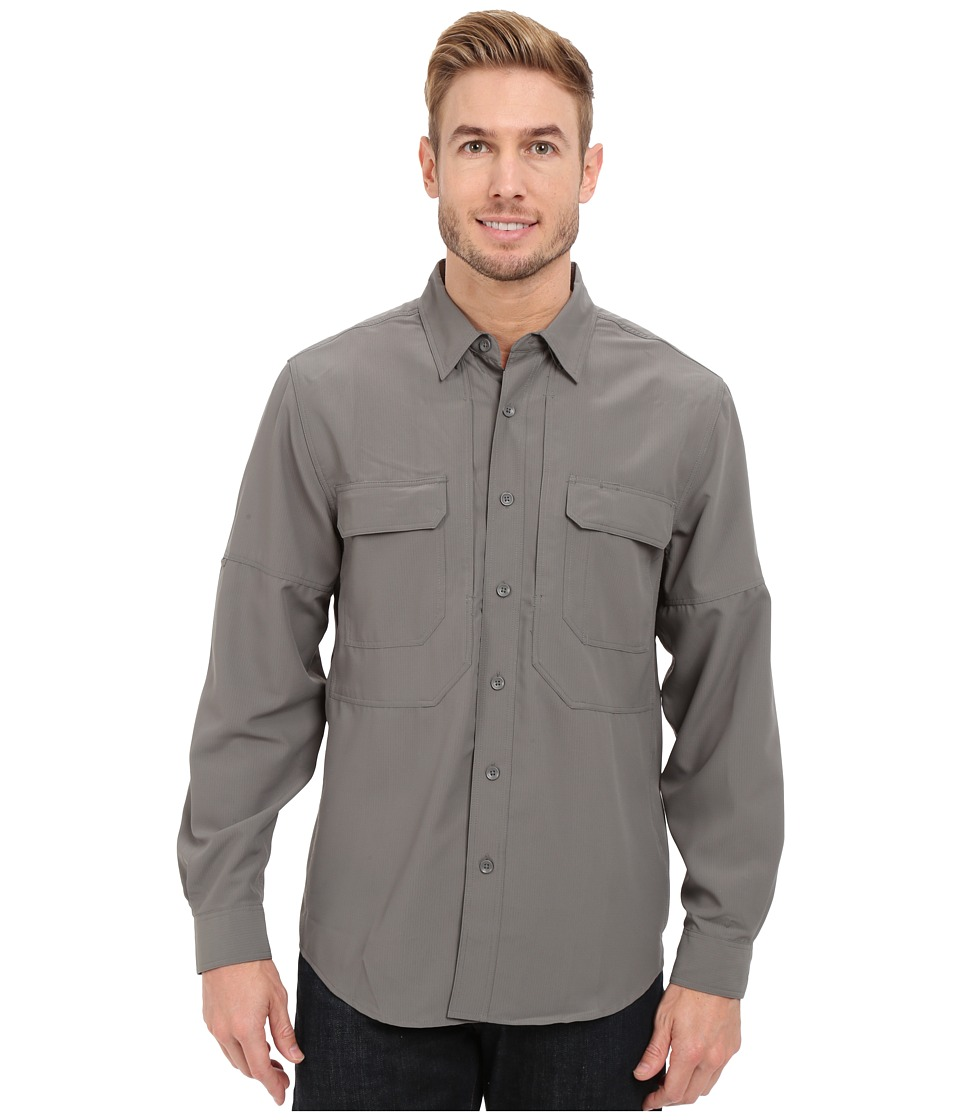 Royal Robbins - Expedition Stretch L/S (Pewter) Men's Long Sleeve Button Up