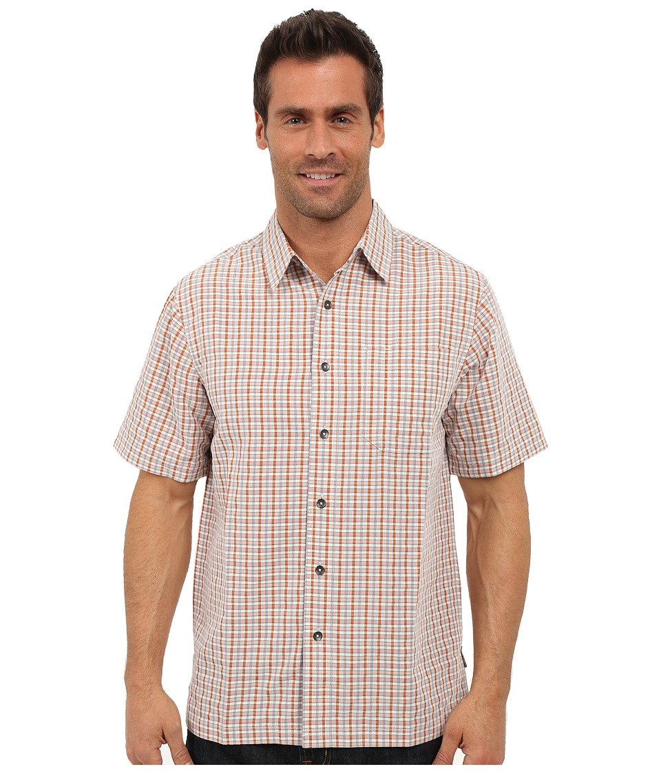 Royal Robbins - Desert Pucker Plaid Short Sleeve Shirt (Acorn) Men's Short Sleeve Button Up