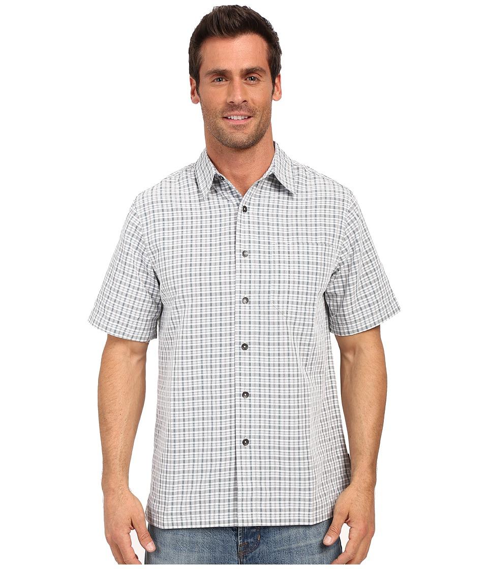 Royal Robbins - Desert Pucker Plaid Short Sleeve Shirt (Light Pewter) Men's Short Sleeve Button Up