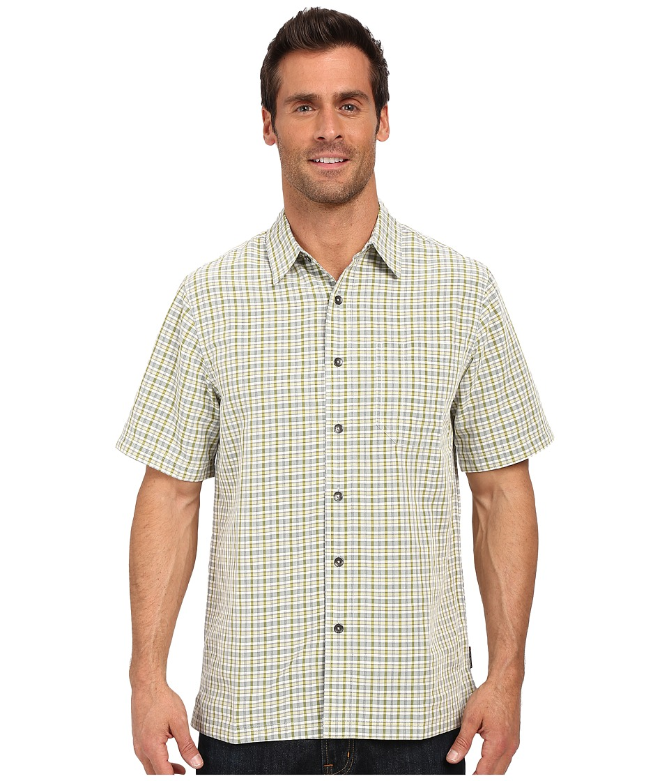 Royal Robbins - Desert Pucker Plaid Short Sleeve Shirt (Lichen) Men's Short Sleeve Button Up