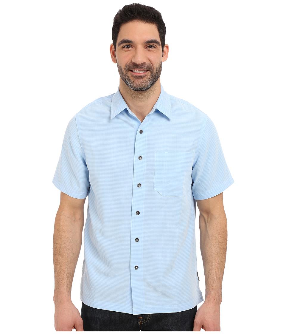 Royal Robbins - Desert Pucker S/S Shirt (Blue Chill) Men's Short Sleeve Button Up