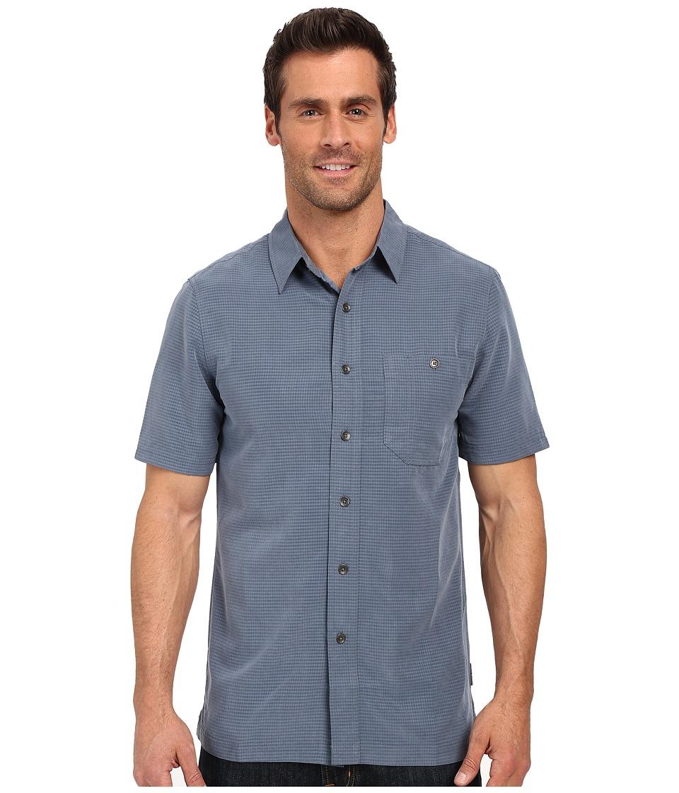 Royal Robbins - Mojave Desert Pucker S/S (Slate) Men's Short Sleeve Button Up