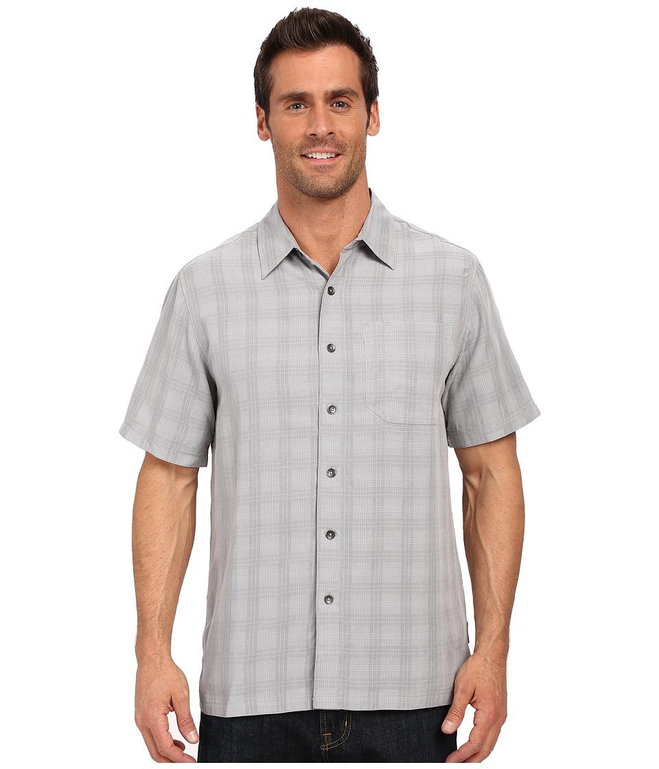 Royal Robbins - San Juan Plaid Short Sleeve Shirt (Light Pewter) Men's Short Sleeve Button Up