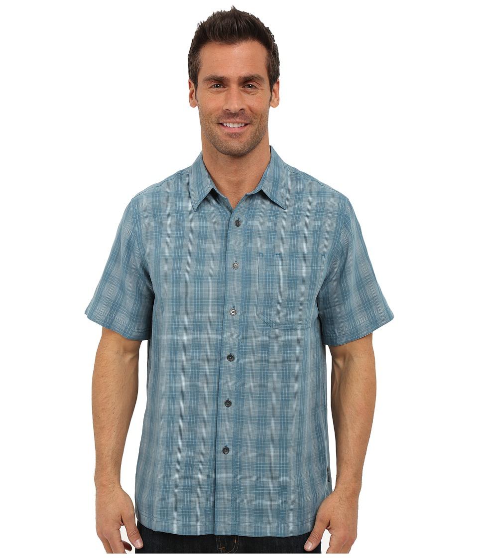 Royal Robbins - San Juan Plaid Short Sleeve Shirt (Tide Pool) Men's Short Sleeve Button Up