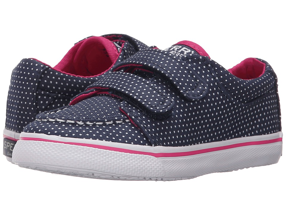 Sperry Kids - Hallie HL (Toddler/Little Kid) (Navy Dot) Girls Shoes