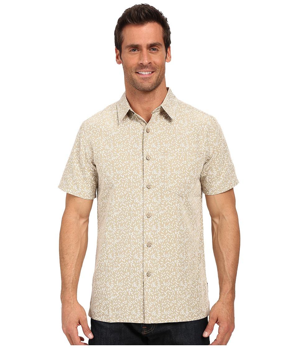 Royal Robbins - Fiesta Print Short Sleeve Shirt (Desert) Men's Short Sleeve Button Up