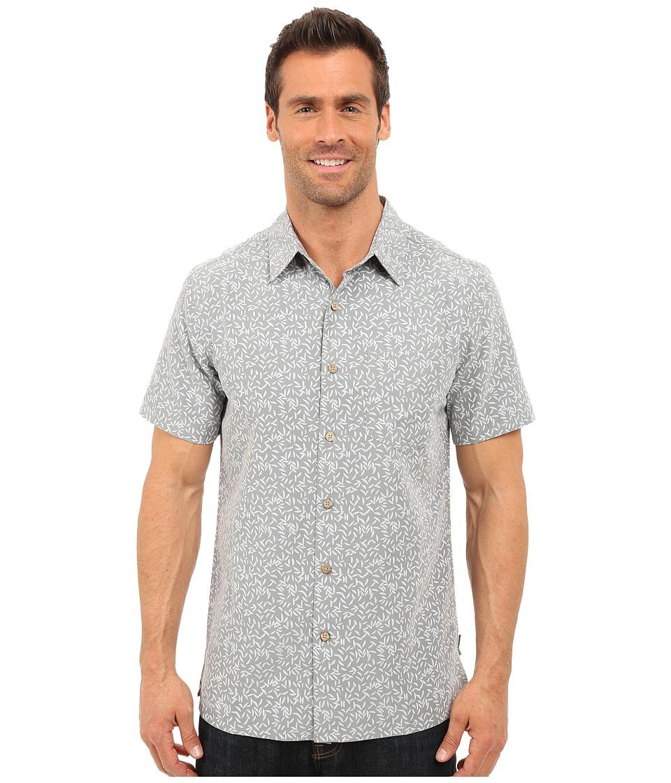 Royal Robbins - Fiesta Print Short Sleeve Shirt (Light Pewter) Men's Short Sleeve Button Up