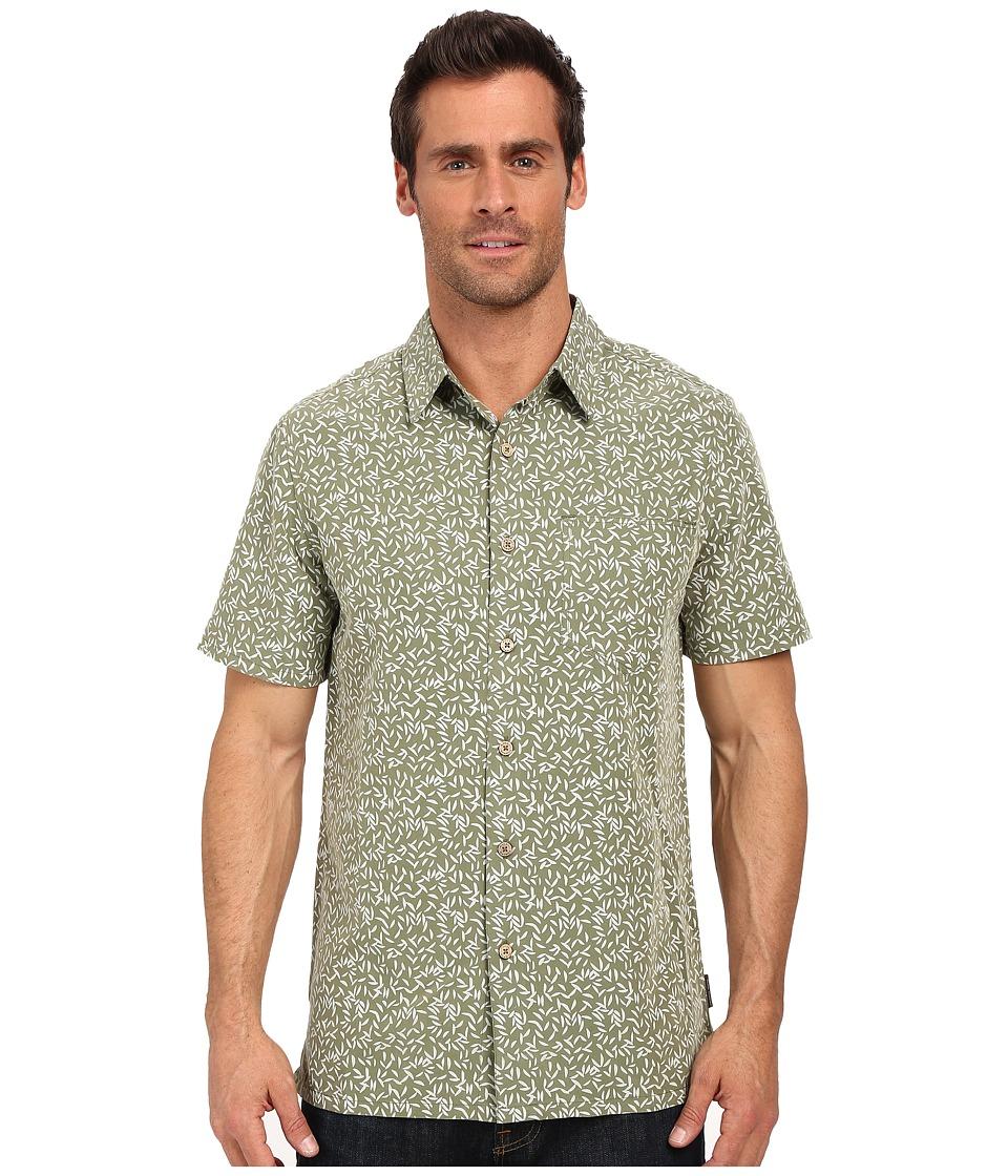 Royal Robbins - Fiesta Print Short Sleeve Shirt (Aloe) Men's Short Sleeve Button Up