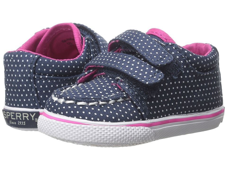 Sperry Top-Sider Kids - Hallie Crib HL (Infant/Toddler) (Navy/Dot) Girls Shoes