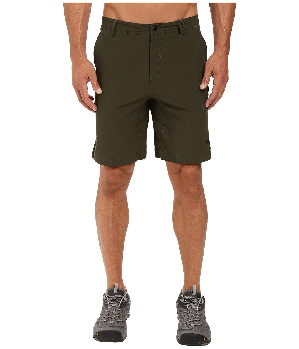 adidas Outdoor - All Outdoor Light Hike Flex Shorts (Night Cargo/Dark Grey) Men's Shorts