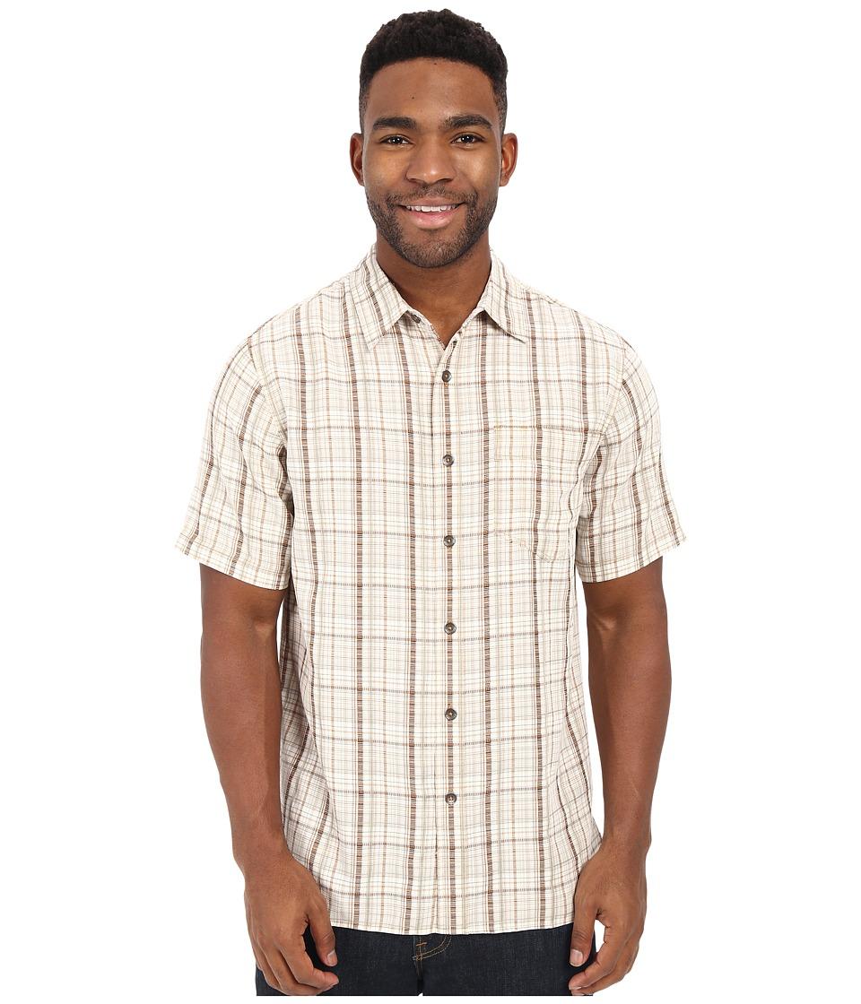 Royal Robbins - Pilat Plaid Short Sleeve Shirt (Acorn) Men's Short Sleeve Button Up