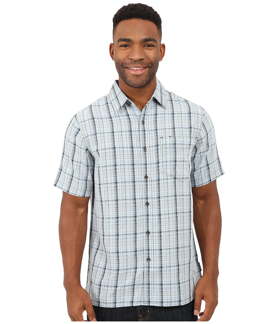Royal Robbins - Pilat Plaid Short Sleeve Shirt (Blue Chill) Men's Short Sleeve Button Up