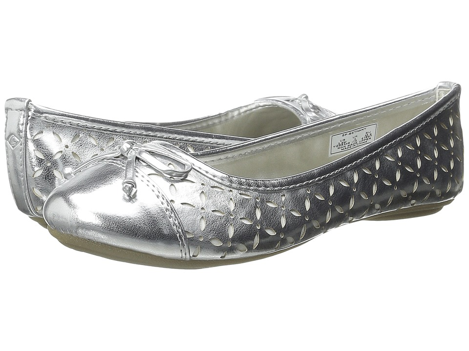 Sperry Top-Sider Kids - Bethany (Toddler/Little Kid/Big Kid) (Silver/White) Girls Shoes