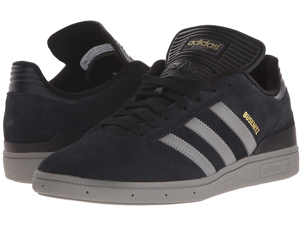 adidas Skateboarding - Busenitz Pro (Black/Solid Grey/Gold Metallic) Men's Skate Shoes