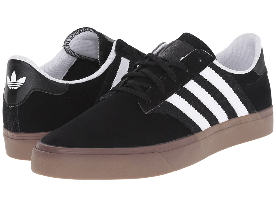 adidas Skateboarding - Seeley Premiere (Black/White/Gum 5) Men's Skate Shoes