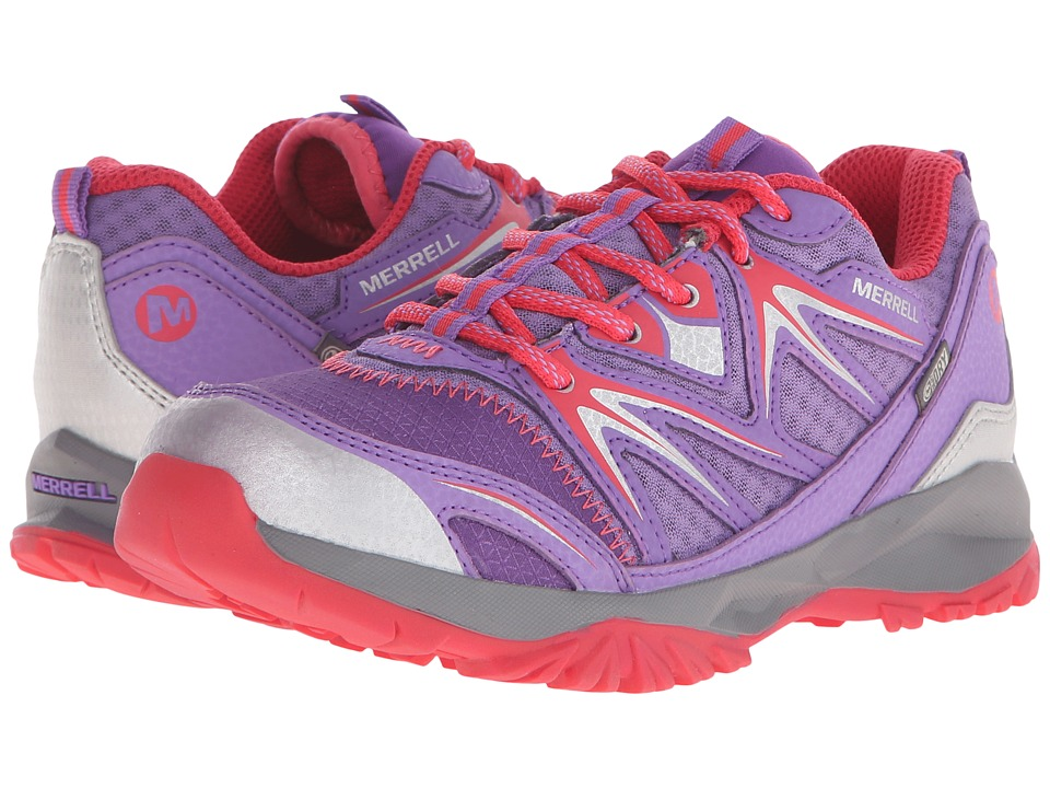 Merrell Kids - Capra Bolt Low Lace Waterproof (Little Kid) (Purple) Girls Shoes