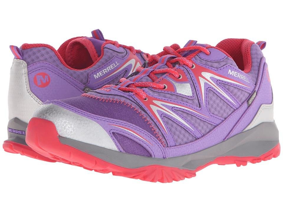 Merrell Kids - Capra Bolt Low Lace Waterproof (Big Kid) (Purple) Girls Shoes
