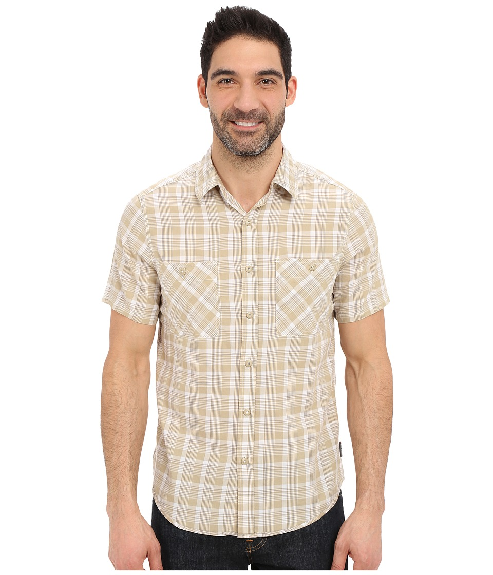 Royal Robbins - Biscayne Bay Plaid Short Sleeve Shirt (Desert) Men's Short Sleeve Button Up
