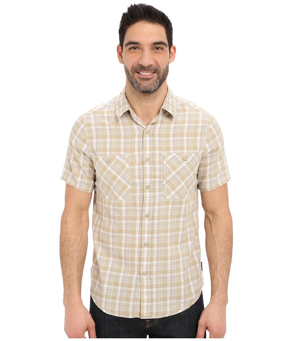 Royal Robbins - Biscayne Bay Plaid Short Sleeve Shirt (Desert) Men's Short Sleeve Button Up