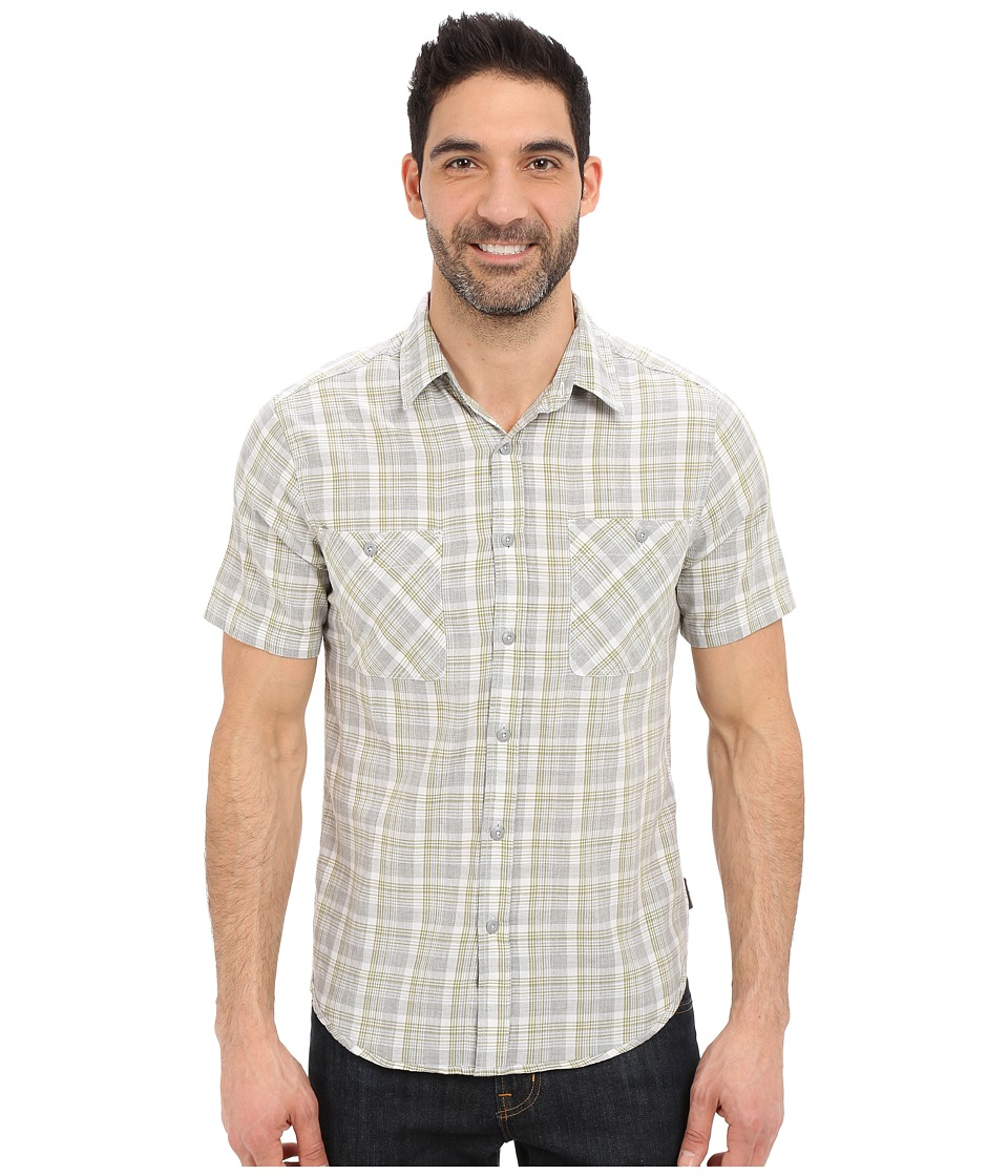 Royal Robbins - Biscayne Bay Plaid Short Sleeve Shirt (Light Pewter) Men's Short Sleeve Button Up