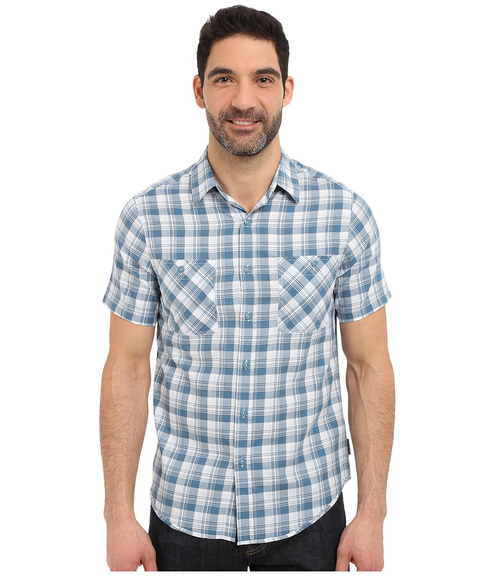 Royal Robbins - Biscayne Bay Plaid Short Sleeve Shirt (Tide Pool) Men's Short Sleeve Button Up