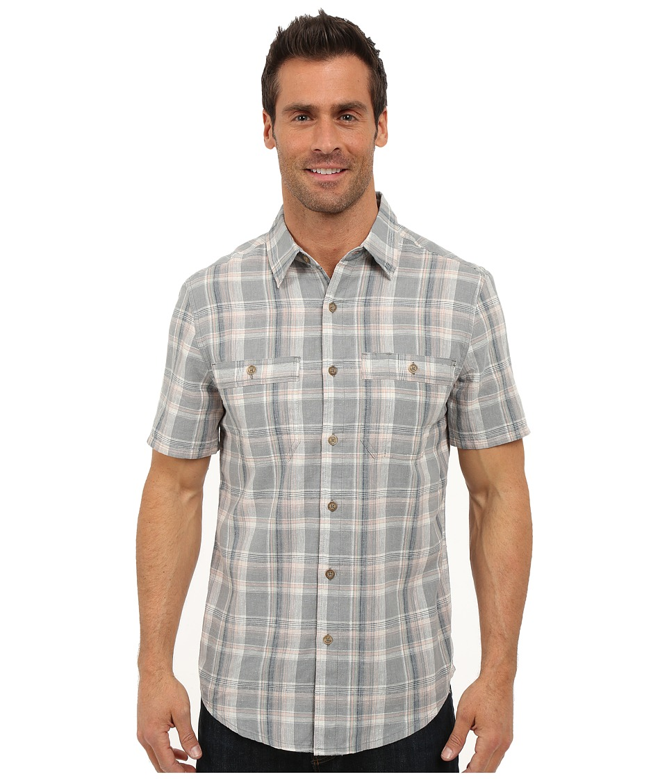 Royal Robbins - Shasta Plaid Short Sleeve Shirt (Light Pewter) Men's Short Sleeve Button Up