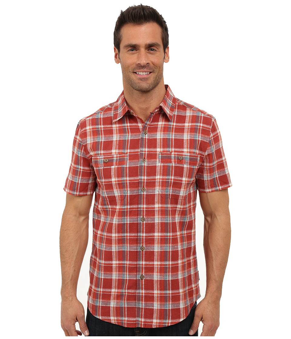 Royal Robbins - Shasta Plaid Short Sleeve Shirt (Dark Paprika) Men's Short Sleeve Button Up