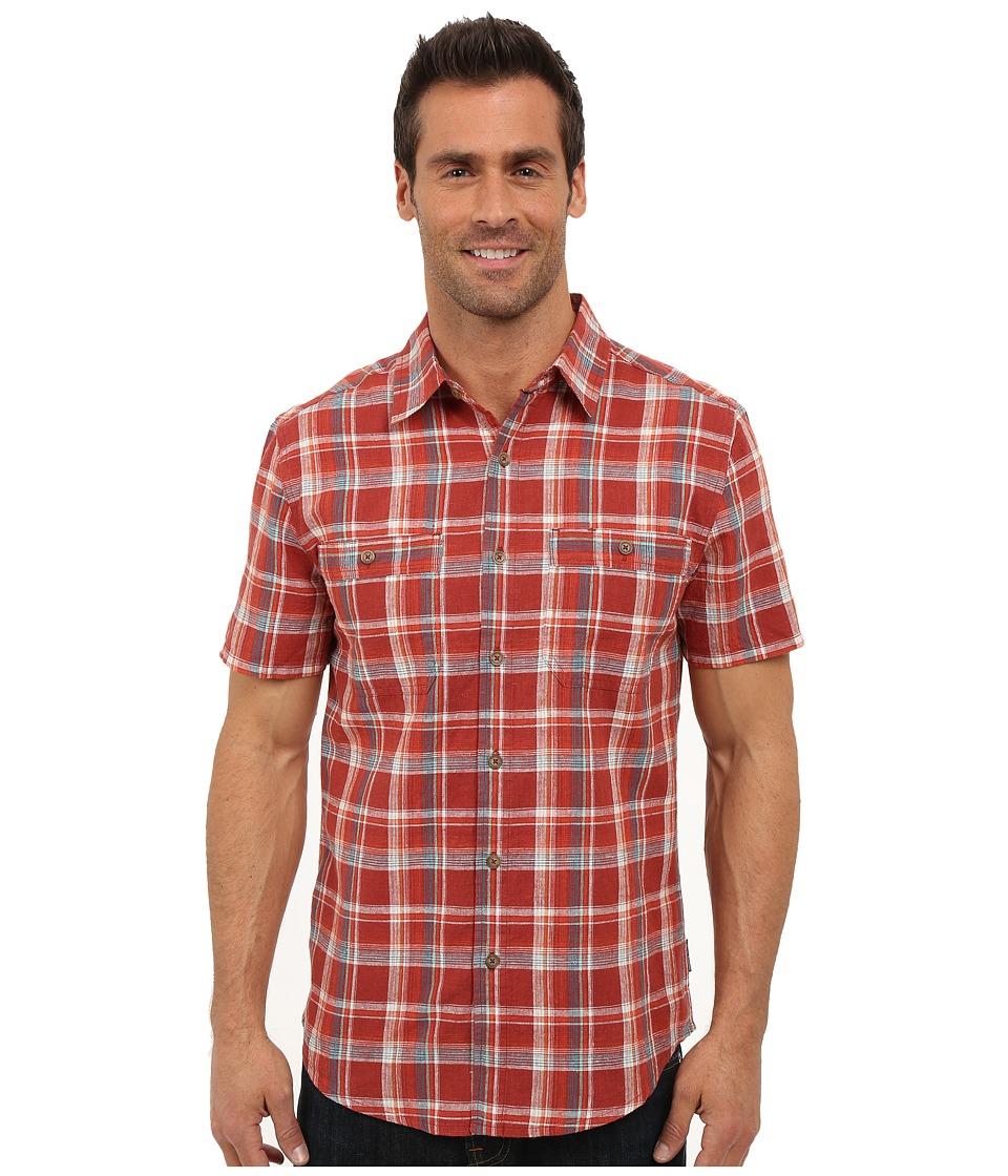 Royal Robbins - Shasta Plaid Short Sleeve Shirt (Dark Paprika) Men's Short Sleeve Button Up