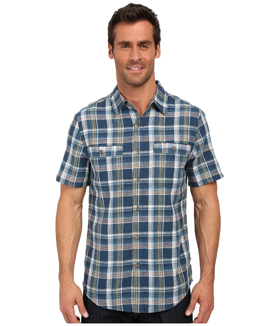 Royal Robbins - Shasta Plaid Short Sleeve Shirt (Phoenix Blue) Men's Short Sleeve Button Up