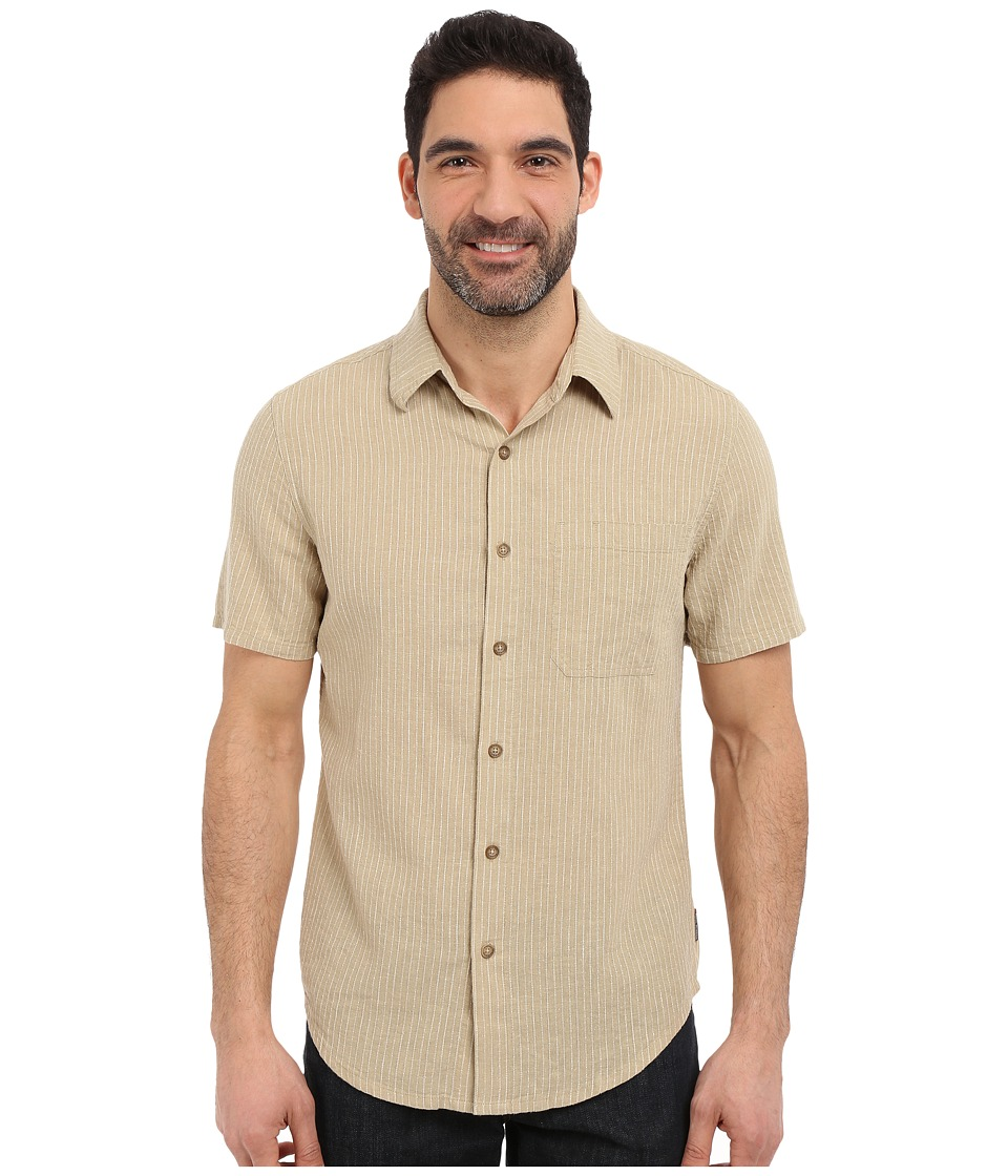 Royal Robbins - Liberty Stripe Short Sleeve Shirt (Desert) Men's Short Sleeve Button Up