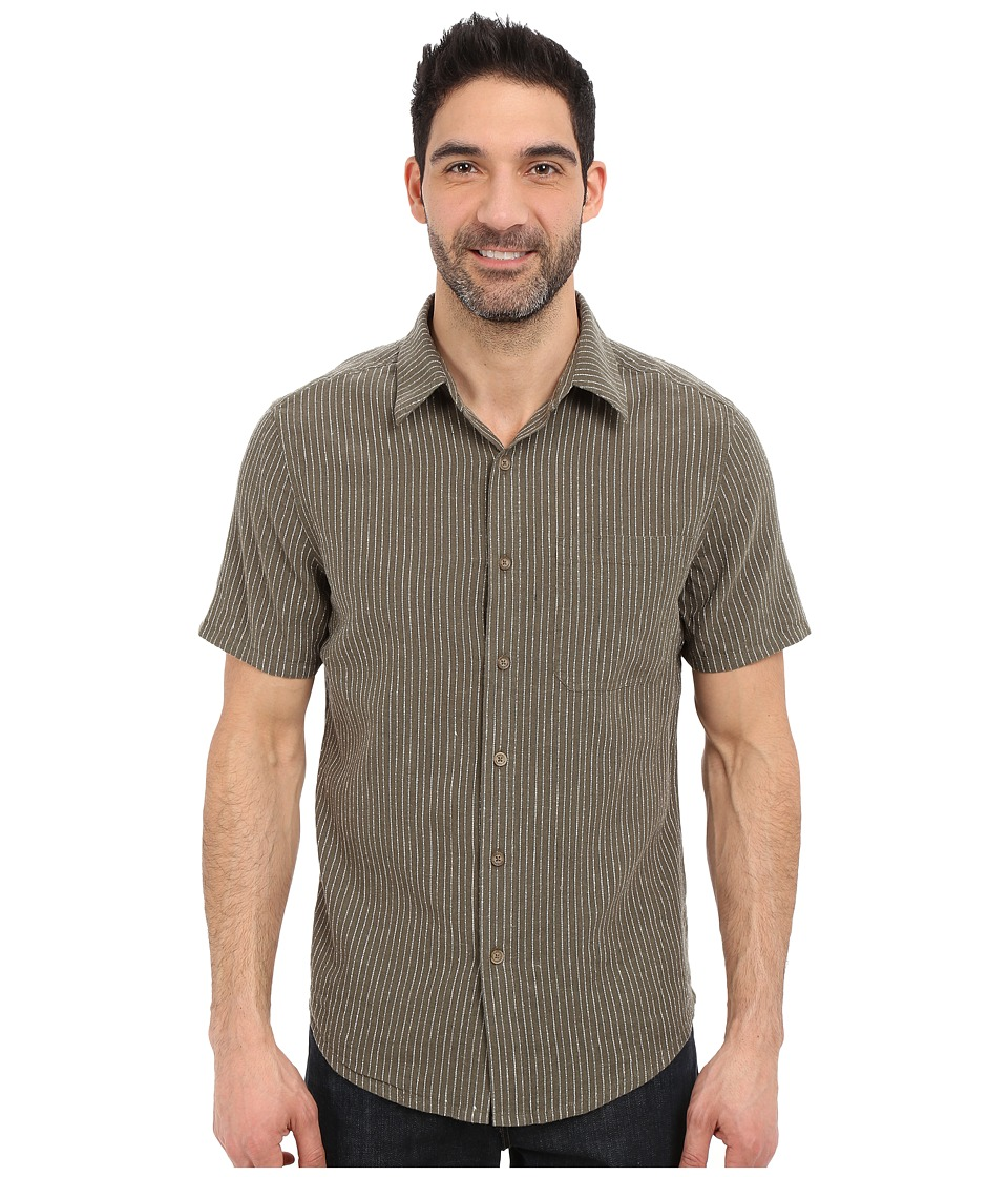 Royal Robbins - Liberty Stripe Short Sleeve Shirt (Light Olive) Men's Short Sleeve Button Up
