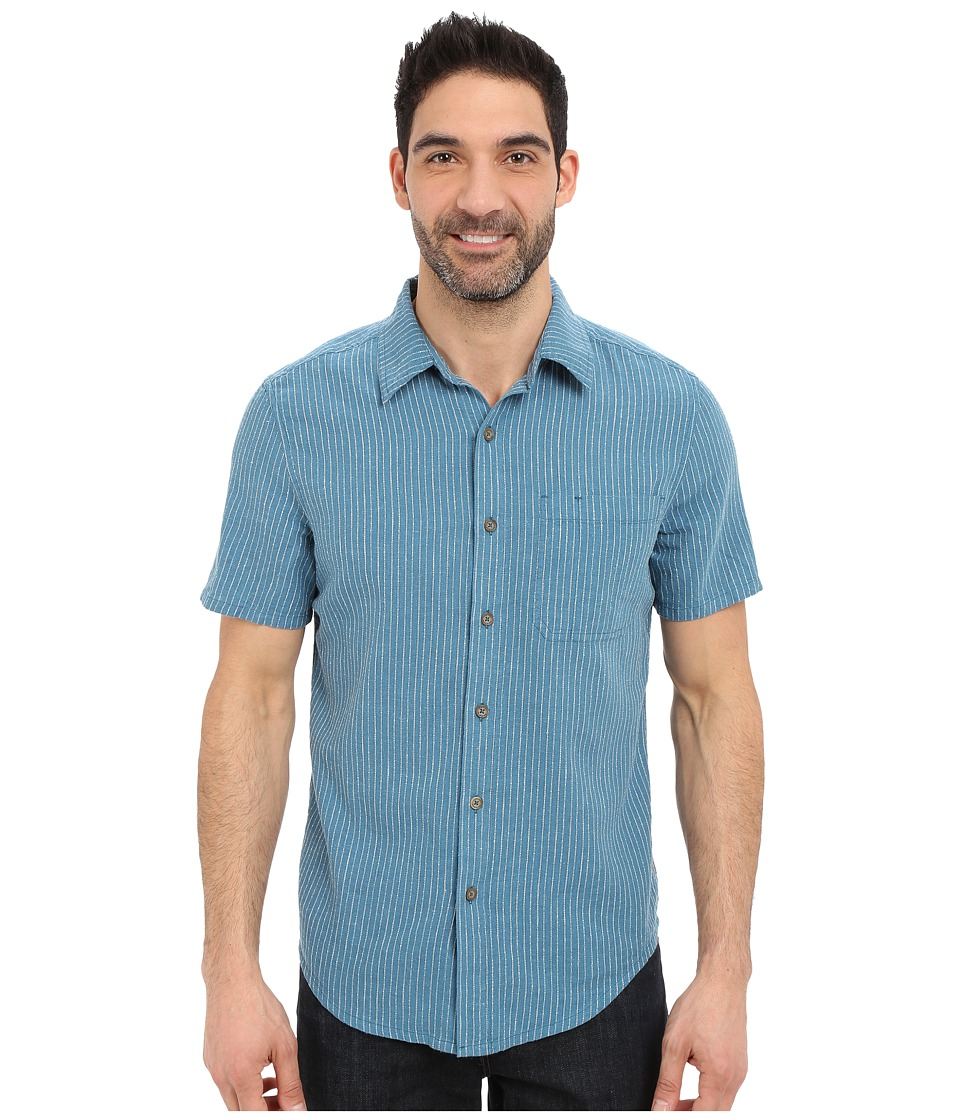 Royal Robbins - Liberty Stripe Short Sleeve Shirt (Tide Pool) Men's Short Sleeve Button Up