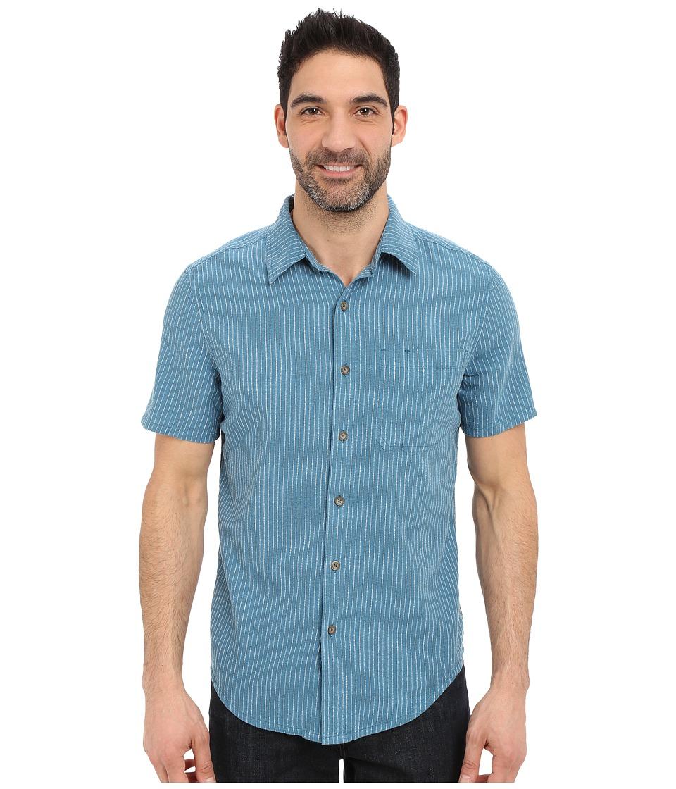 Royal Robbins - Liberty Stripe Short Sleeve Shirt (Tide Pool) Men's Short Sleeve Button Up