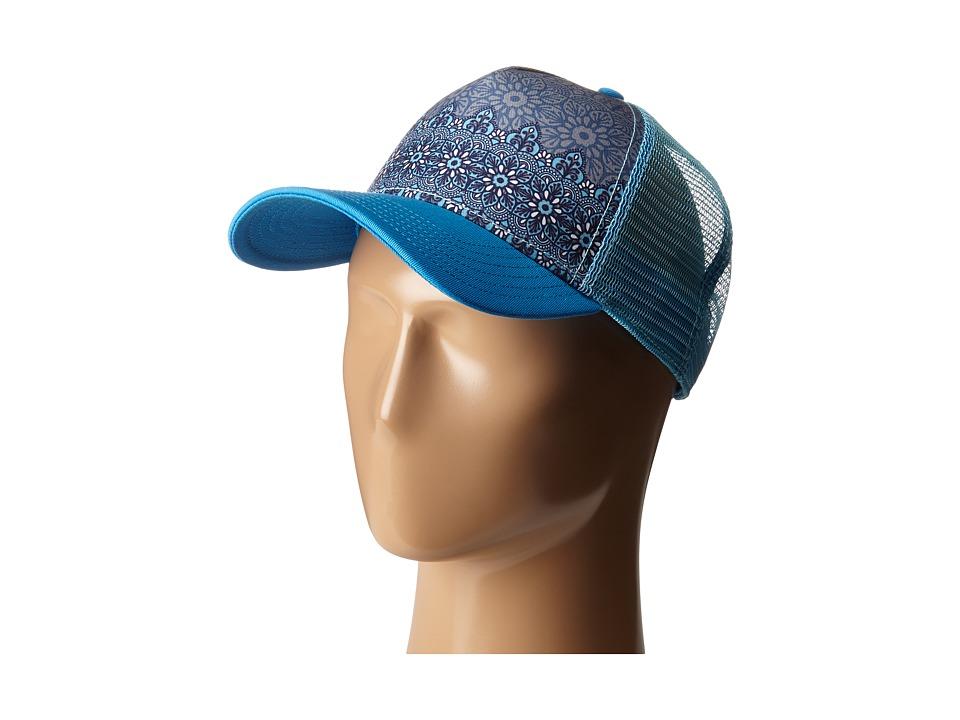 Prana - La Viva Trucker Hat (Electro Blue Flora) Caps