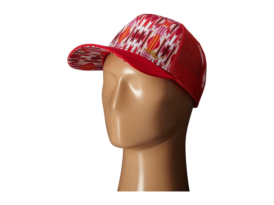 Prana - La Viva Trucker Hat (Sunwashed Red Euphoria) Caps