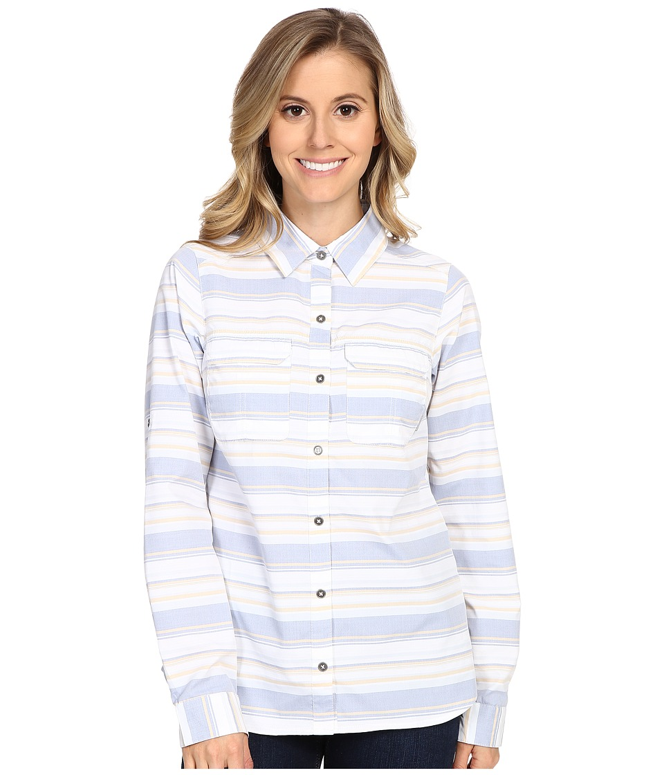 Columbia - Pilsner Peak Stripe Long Sleeve Shirt (Bluebell Stripe) Women's Long Sleeve Button Up