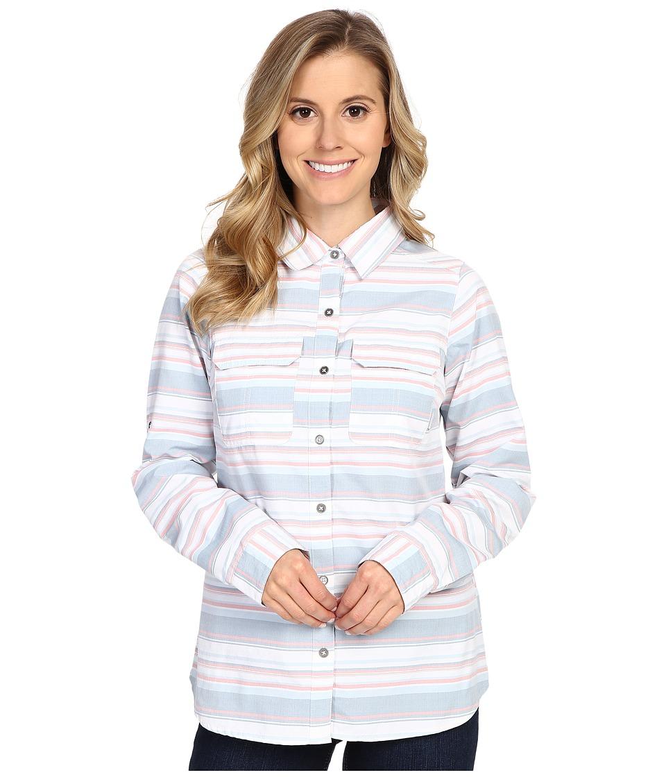 Columbia - Pilsner Peak Stripe Long Sleeve Shirt (Cloudburst Stripe) Women's Long Sleeve Button Up