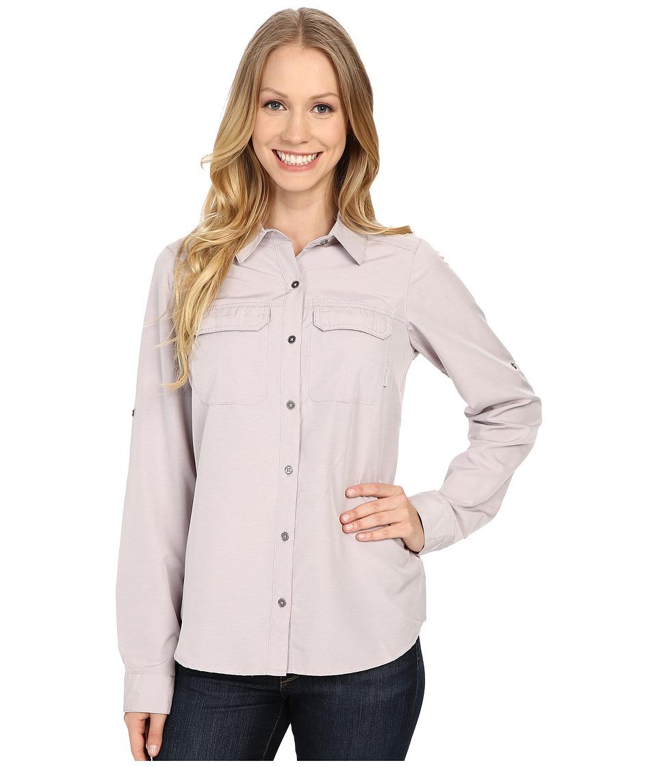 Columbia - Pilsner Peak Long Sleeve Shirt (Sparrow Heather) Women's Long Sleeve Button Up