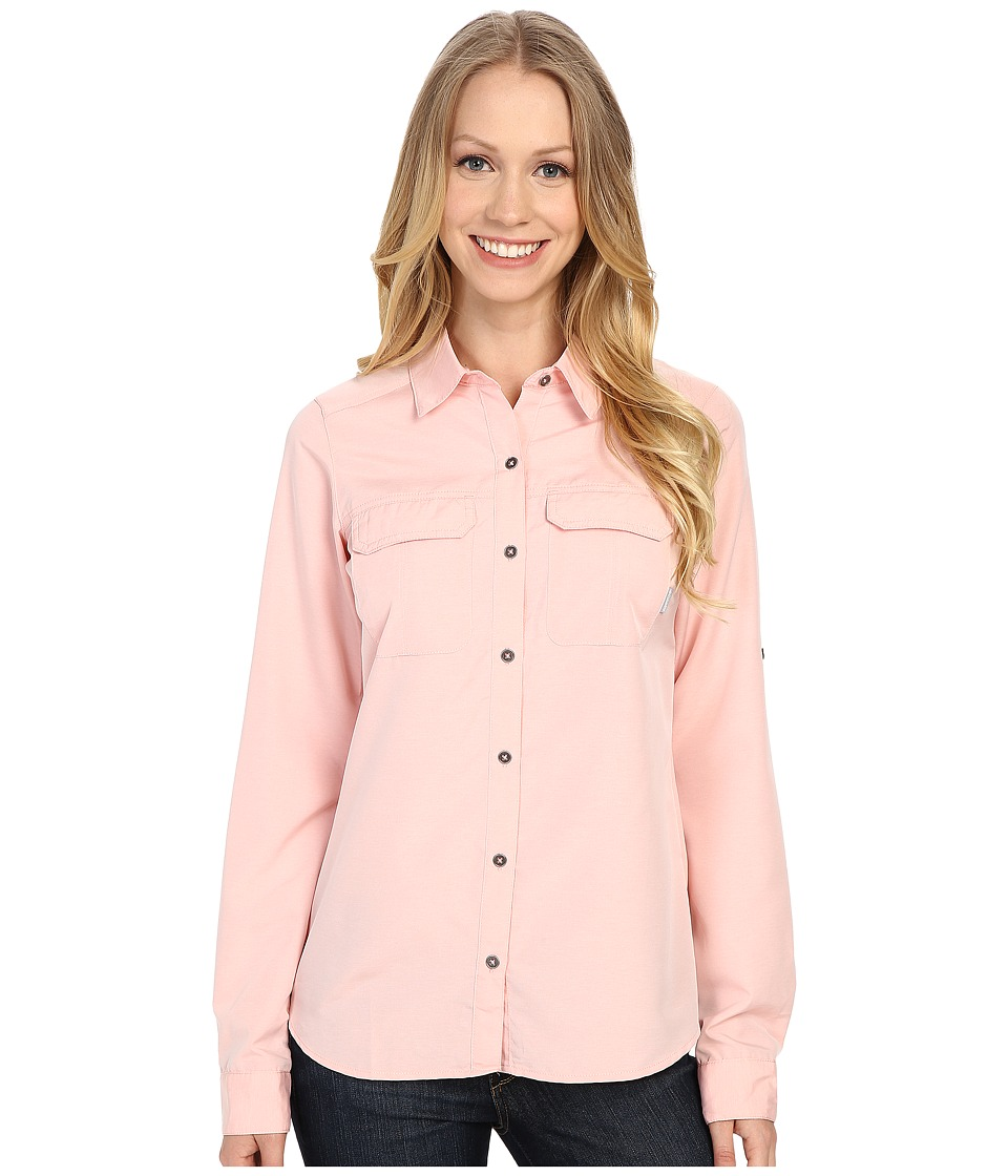 Columbia - Pilsner Peak Long Sleeve Shirt (Coral Bloom Heather) Women's Long Sleeve Button Up