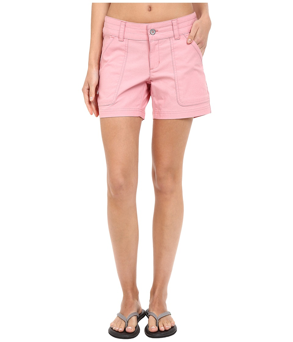 Columbia - Pilsner Peak Shorts (Coral Bloom Oxford) Women's Shorts