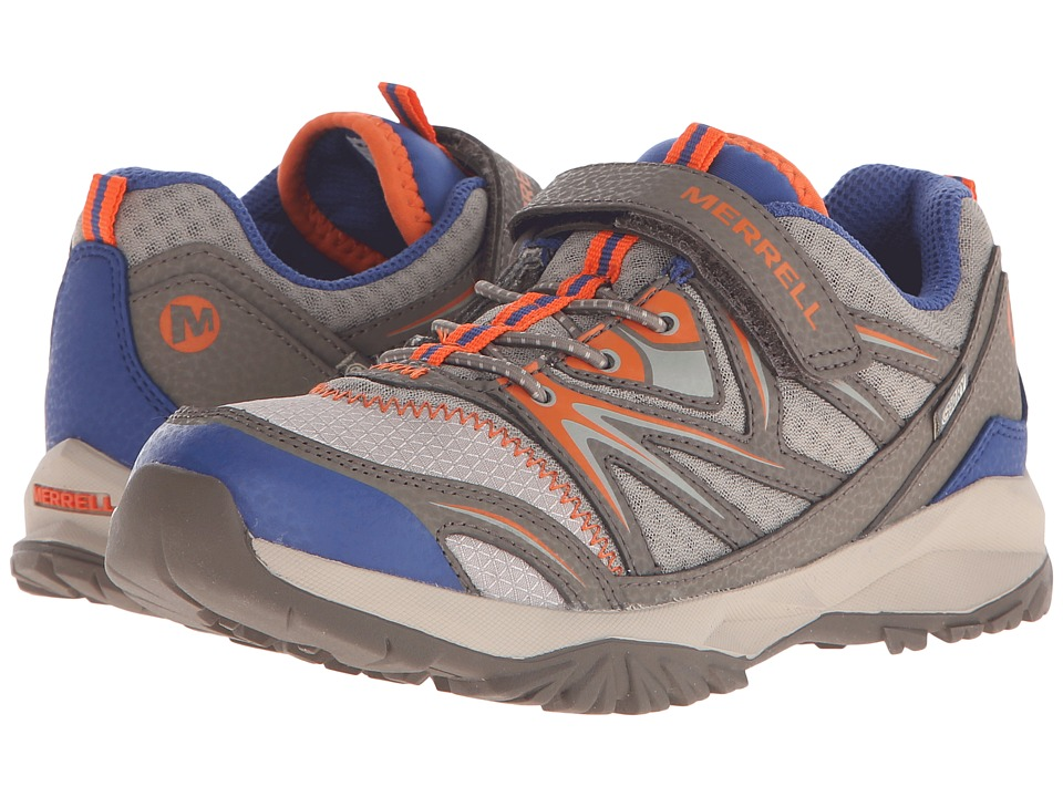 Merrell Kids - Capra Bolt Low A/C Waterproof (Little Kid) (Gunsmoke/Orange) Boys Shoes