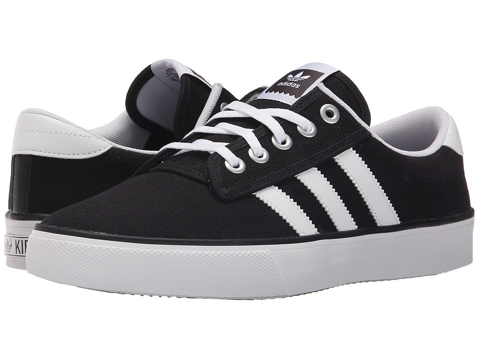 adidas Skateboarding - Kiel (Black/White/Carbon) Men's Skate Shoes