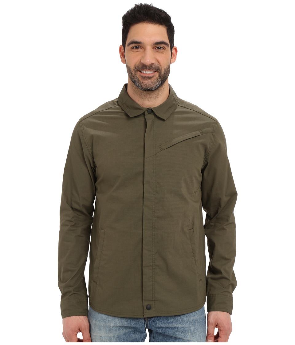 Toad&Co - Transverse Shirt Jacket (Dark Moss) Men's Long Sleeve Button Up